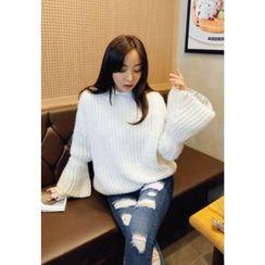 REDOPIN - Rib-Knit Sweater