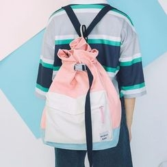 Youme - Colour Block Drawstring Backpack