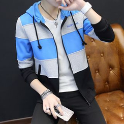 T for TOP - Color Block Hooded Jacket