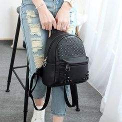 Princess Carousel - Studded Faux Leather Backpack