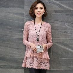 Romantica - Long-Sleeve Lace Layered Top
