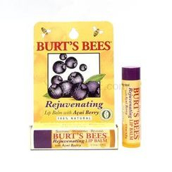 Burt's Bees - Rejuvenating Lip Balm with Acai Berry