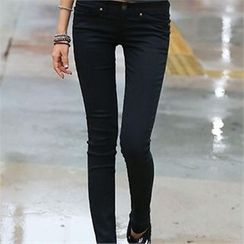 CHICFOX - Fleece-Lined Skinny Pants