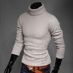 Aozora - Turtleneck Ribbed Sweater