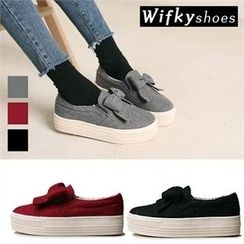 Wifky - Bow-Front Platform Slip-Ons