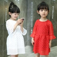 Merry Go Round - Kids 3/4-Sleeve Chiffon Dress
