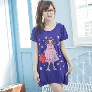 YoungBaby - Short-Sleeve Printed T-Shirt Dress
