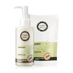 HAPPY BATH - Soapberry Set: Water Oil 145ml + Refill 80ml