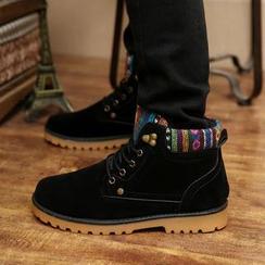 Solejoy - 图案边系带短靴