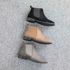 VIVIER - Banded Faux-Suede Ankle Boots