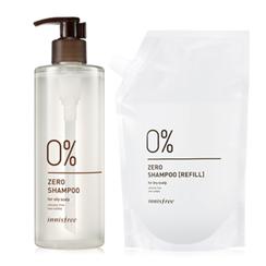 Innisfree - Zero Shampoo Special Set: Shampoo 400ml + With Refill 400ml (For Oily Scalp)