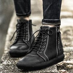 MIAOLV - Lace-Up Ankle Boots