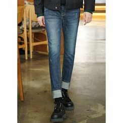 JOGUNSHOP - Straight-Cut Washed Jeans
