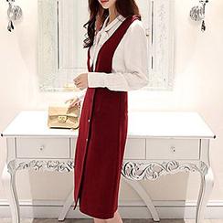 Romantica - Set: Long-Sleeve Shirt + Suspender Skirt
