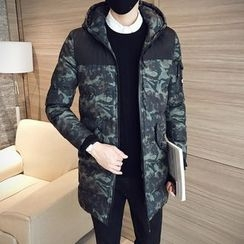 Besto - Camouflage Hooded Padded Coat
