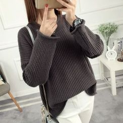 anzoveve - Loose Fit Thick Sweater