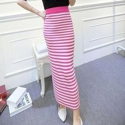 Ando Store - Striped Maxi Skirt