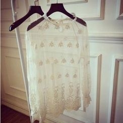 QZ Lady - Sheer Lace Blouse