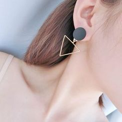 Hoseki - Geometric Non-Matching Drop Earrings