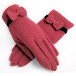 羚羊早安 - 飾結羊毛手套