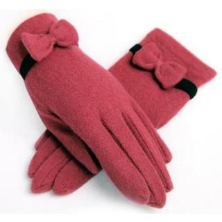 RGLT Scarves - Bow-Accent Wool Gloves