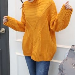 DANI LOVE - Mock-Neck Drop-Shoulder Sweater