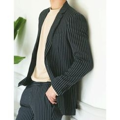 STYLEMAN - Single-Breasted Striped Jacket