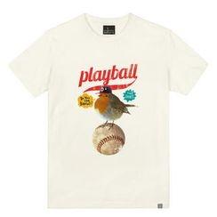 the shirts - Baseball Print T-Shirt