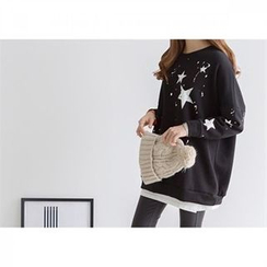 PEPER - Drop-Shoulder Printed Sweatshirt
