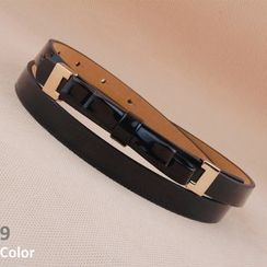 Goldenrod - Bow Accent Slim Belt
