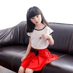 Famula - Kids Short-Sleeve Color-Block Dress