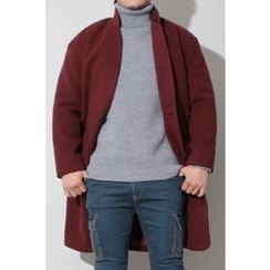 Ohkkage - Hooded Single-Button Coat