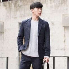 STYLEMAN - Single-Breasted Stripe Jacket