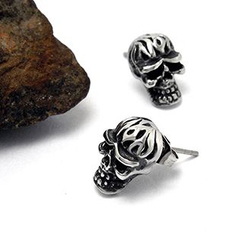 Andante - Skull Single Stud Earring