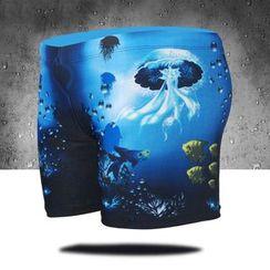 Aqua Wave - 印花游泳短裤