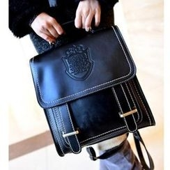 Miss Sweety - Faux-Leather Embossed Backpack
