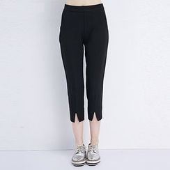 LUIMINE - Slit Cropped Pants