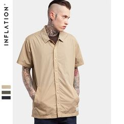 Newin - Short-Sleeve Plain Shirt