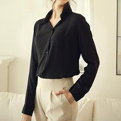 Eloqueen - Long-Sleeve Chiffon Shirt