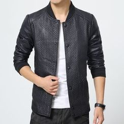 Bay Go Mall - Faux Leather Jacket