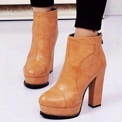 Forkix Boots - Heeled Platform Ankle Boots
