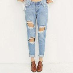 雅典娜 - 做舊牛仔褲