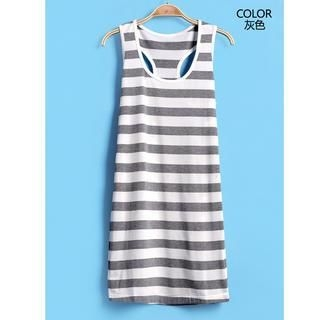 9mg - Striped Racerback Tank Dress