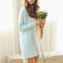 AiAi Bear - Open Knit Long Cardigan