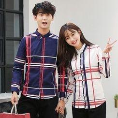 Azure - Couple Matching Plaid Shirt
