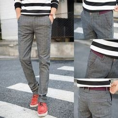 Denimic - Plain Slim Fit Pants