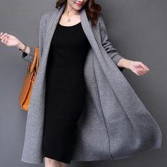 Hidari - 純色開胸外套