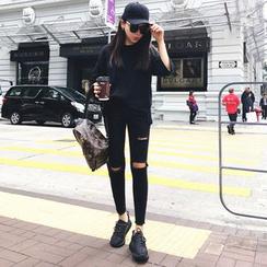 MePanda - Distressed Skinny Jeans