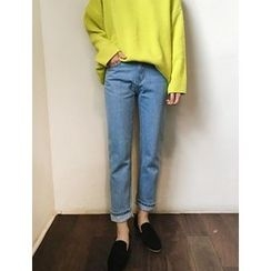 FROMBEGINNING - Straight-Cut Jeans