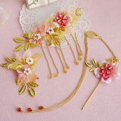 constello - 婚禮套裝: 中式碎花髮夾 + 髮簪